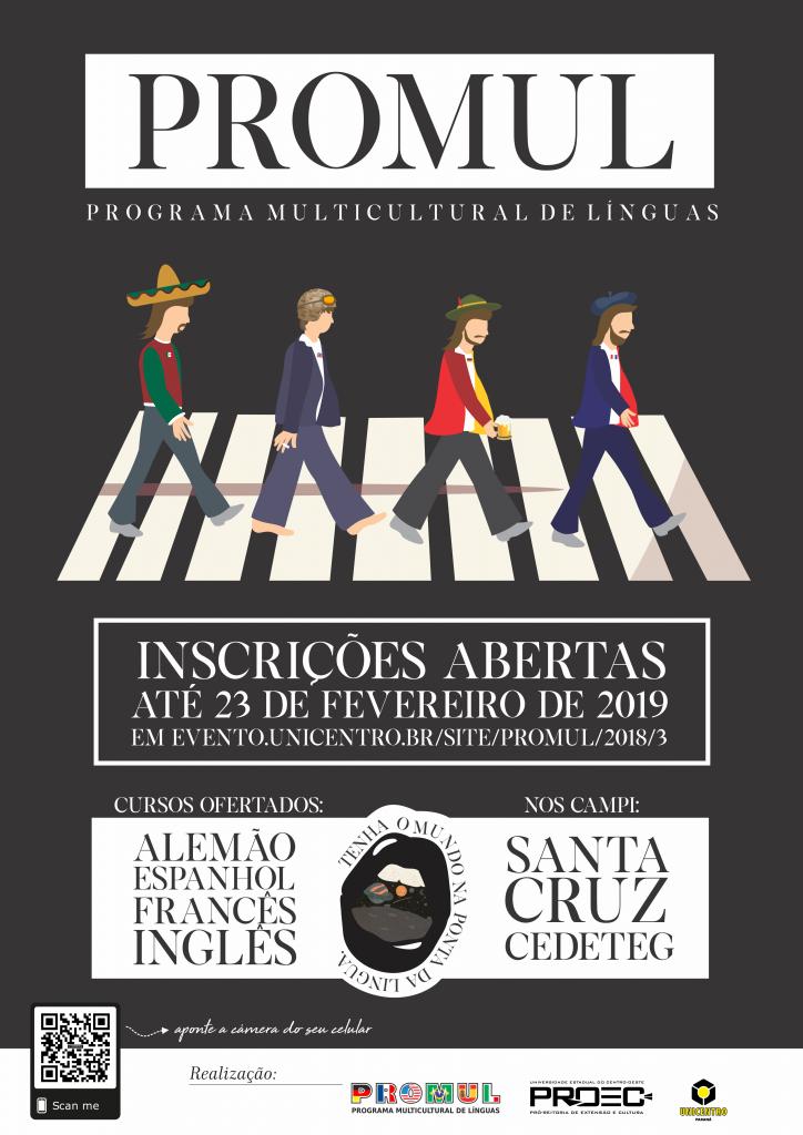 Abertas as inscrições para as turmas 2019 do Programa Multicultural de Línguas