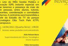 Aula Inaugural do MBA em Gestão Pública e Inovação