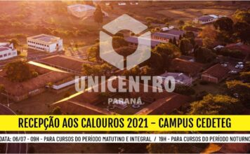 Campus Cedeteg - Recepção aos Calouros 2021 - 09h