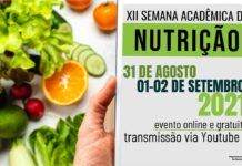 XII Semana Acadêmica de Nutrição da Unicentro - 31/08
